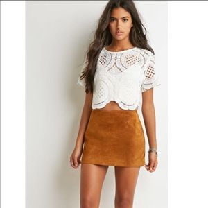 Forever 21 Brown Suede Mini Skirt